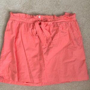 Coral JCrew Cotton Skirt